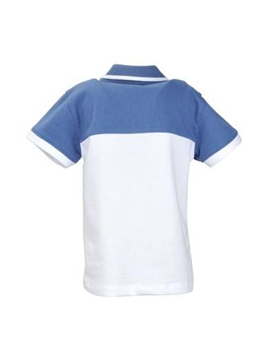 Mininio Mavi Renk Bloklu Polo Yaka T-Shirt (9ay-4yaş) Mavi Renk Bloklu Polo Yaka T-Shirt (9ay-4yaş) Mavi